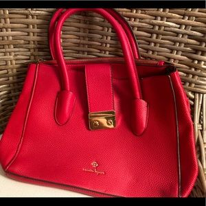 {Nanette Lepore} red leather satchel handbag